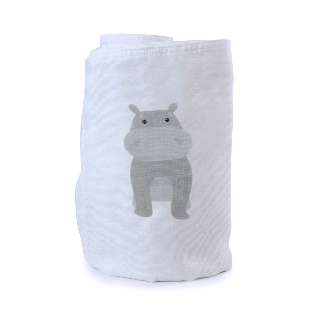 Zoo Animals Hippo Muslin Wrap - Bubba Blue Australia