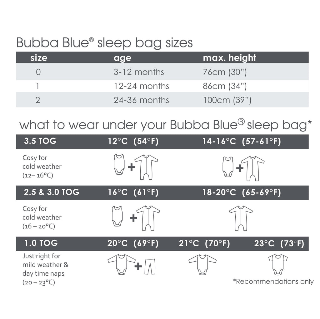 Navy Wish Upon a Star 2.5 Tog Convertible Sleeping Bag - Bubba Blue Australia