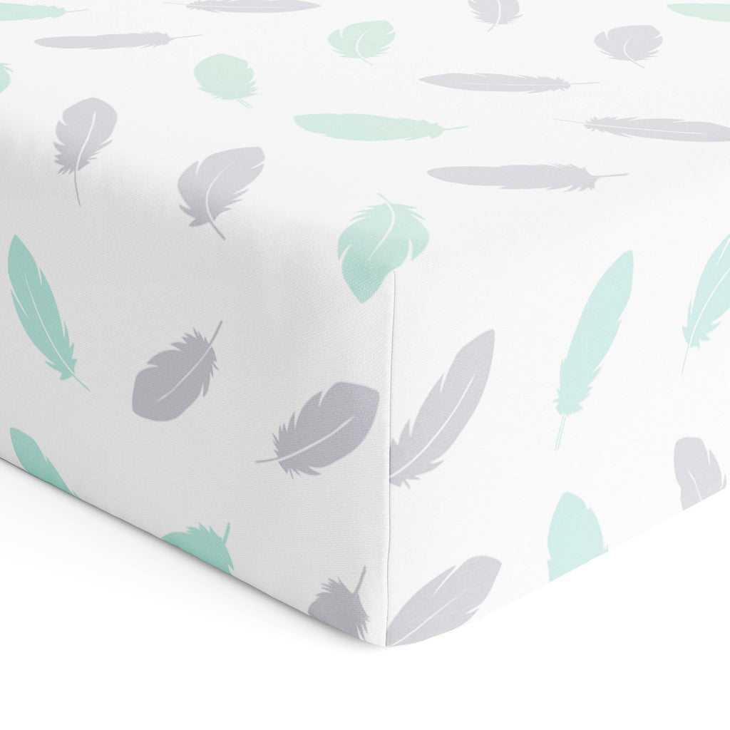 New Organic Feathers Cot Fitted Sheet