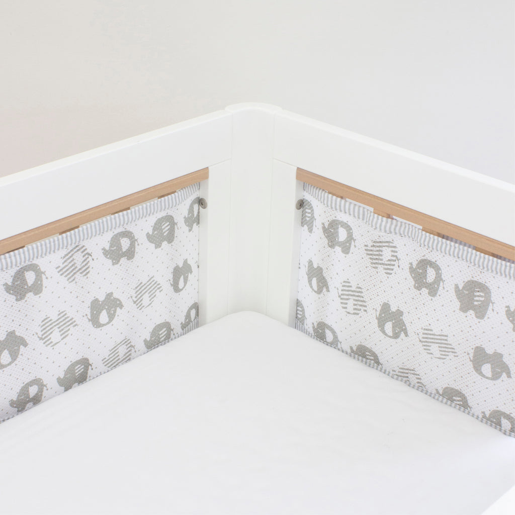 Breathe Easy Cot Liner - Petit Elephant