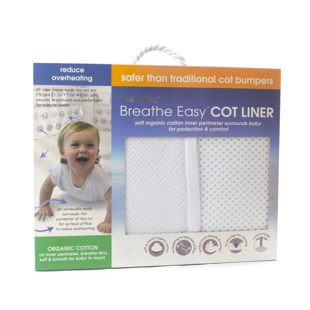 Breathe Easy Cot Liner - White