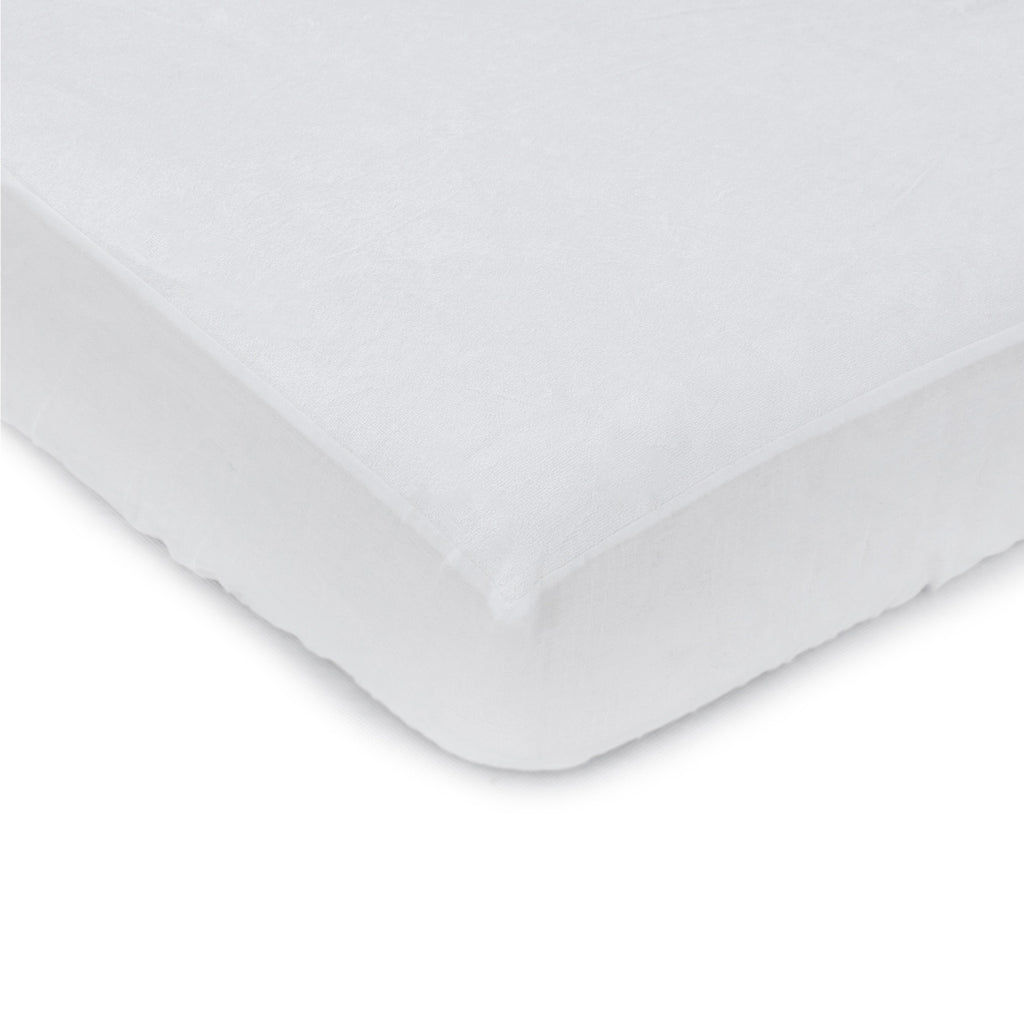 Bamboo White Large Cot Waterproof Mattress Protector - Bubba Blue Australia