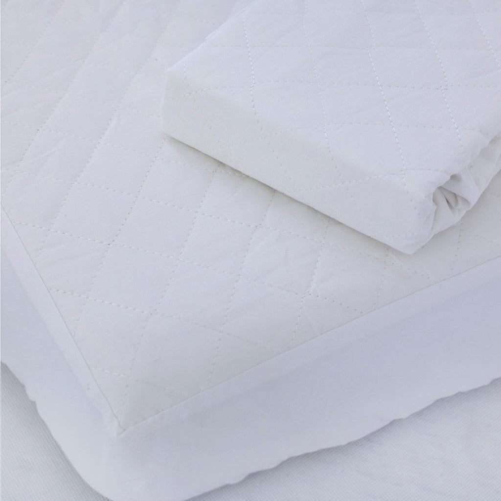Breathe Easy Round Cot Waterproof Quilted Mattress Protector - Bubba Blue Australia