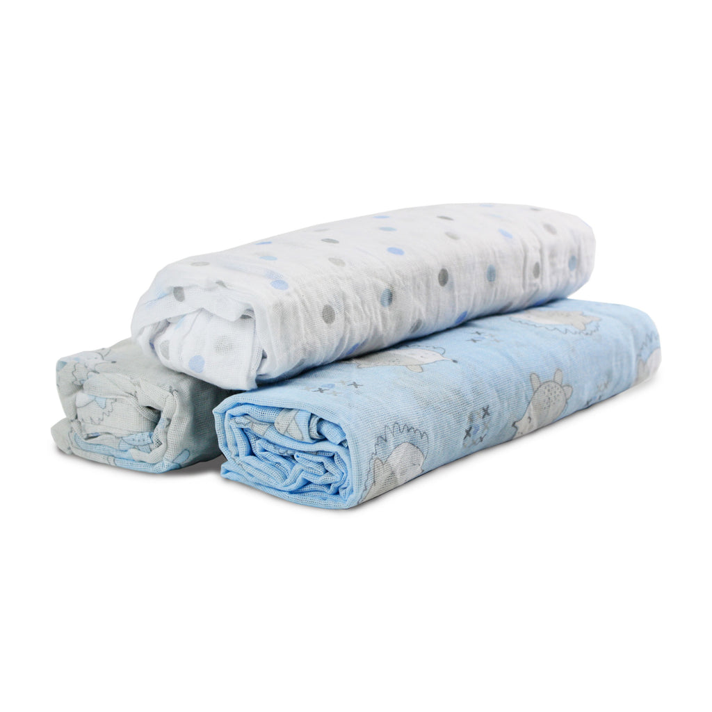 Buy One Get One Free My Baby 3pk Muslin Swaddle Wraps