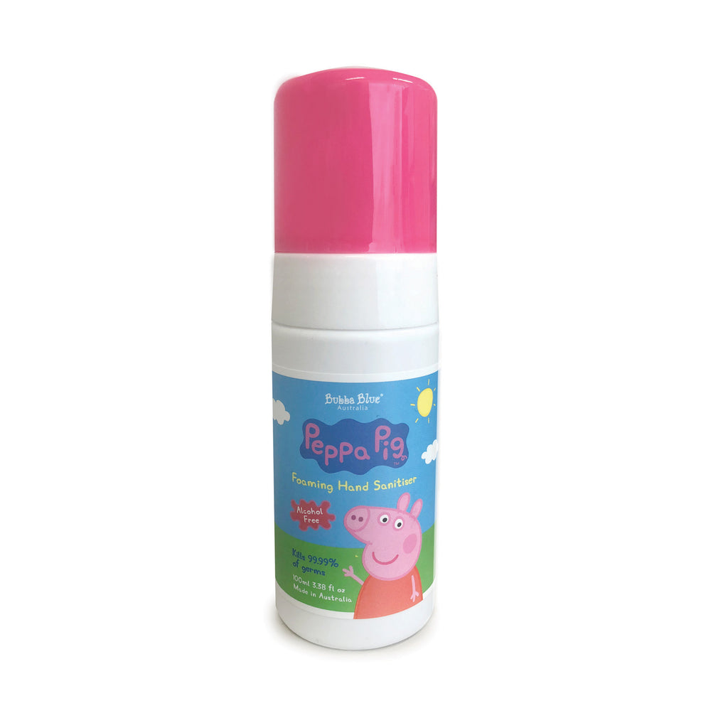 Peppa Pig Alcohol & Fragrance Free Hand Sanitiser 100ml - Bubba Blue Australia