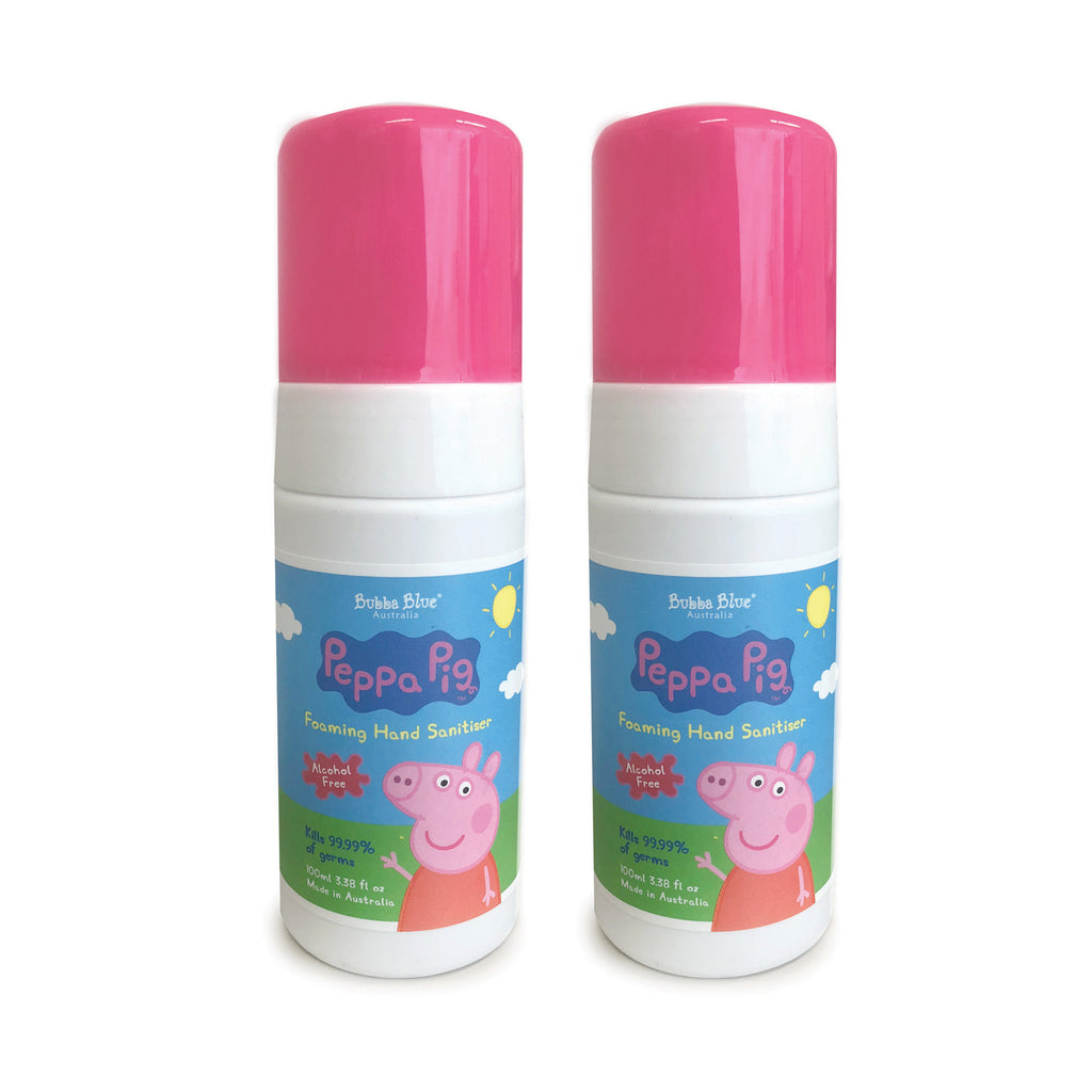 Bundle - 2x Peppa Pig Alcohol & Fragrance Free Hand Sanitiser 100ml - Bubba Blue Australia
