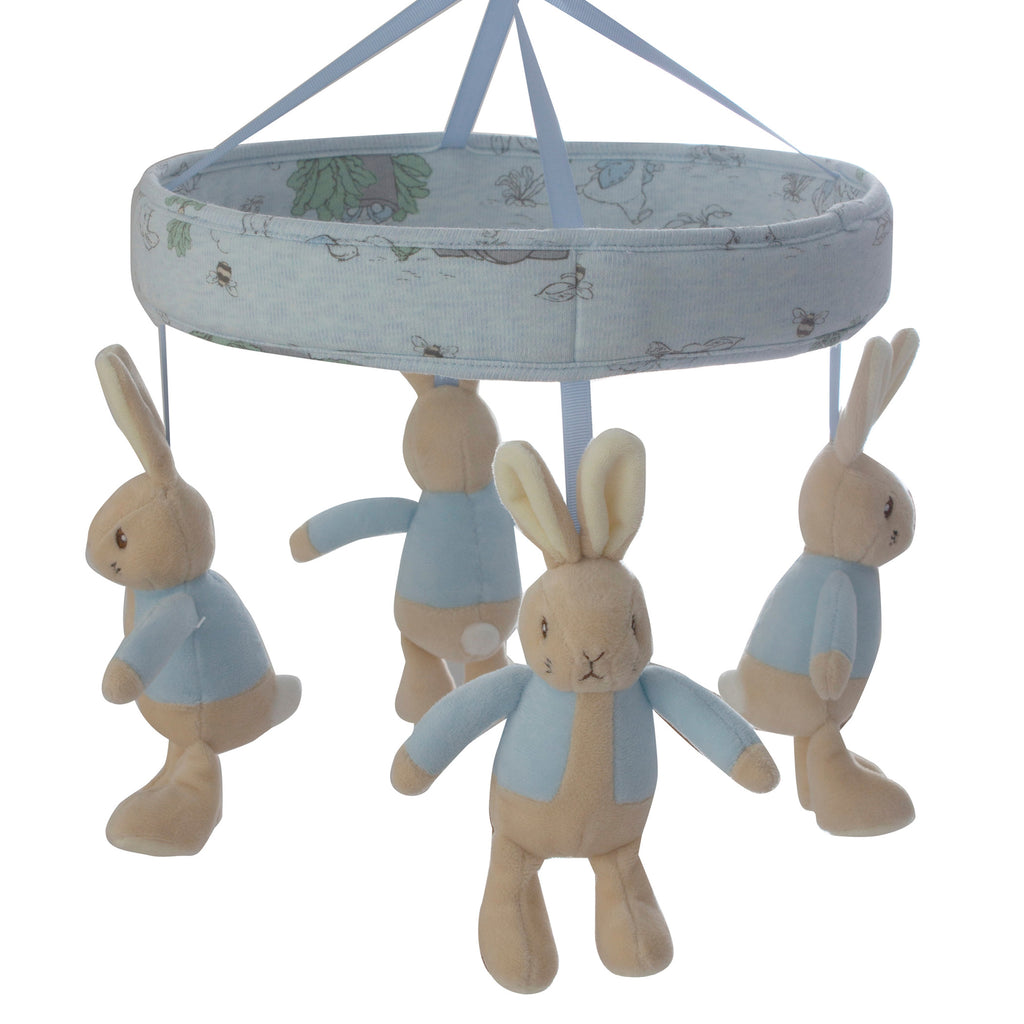 Peter Rabbit 'Hop Little Rabbit' Musical Mobile Bluetooth® - Blue - Bubba Blue Australia