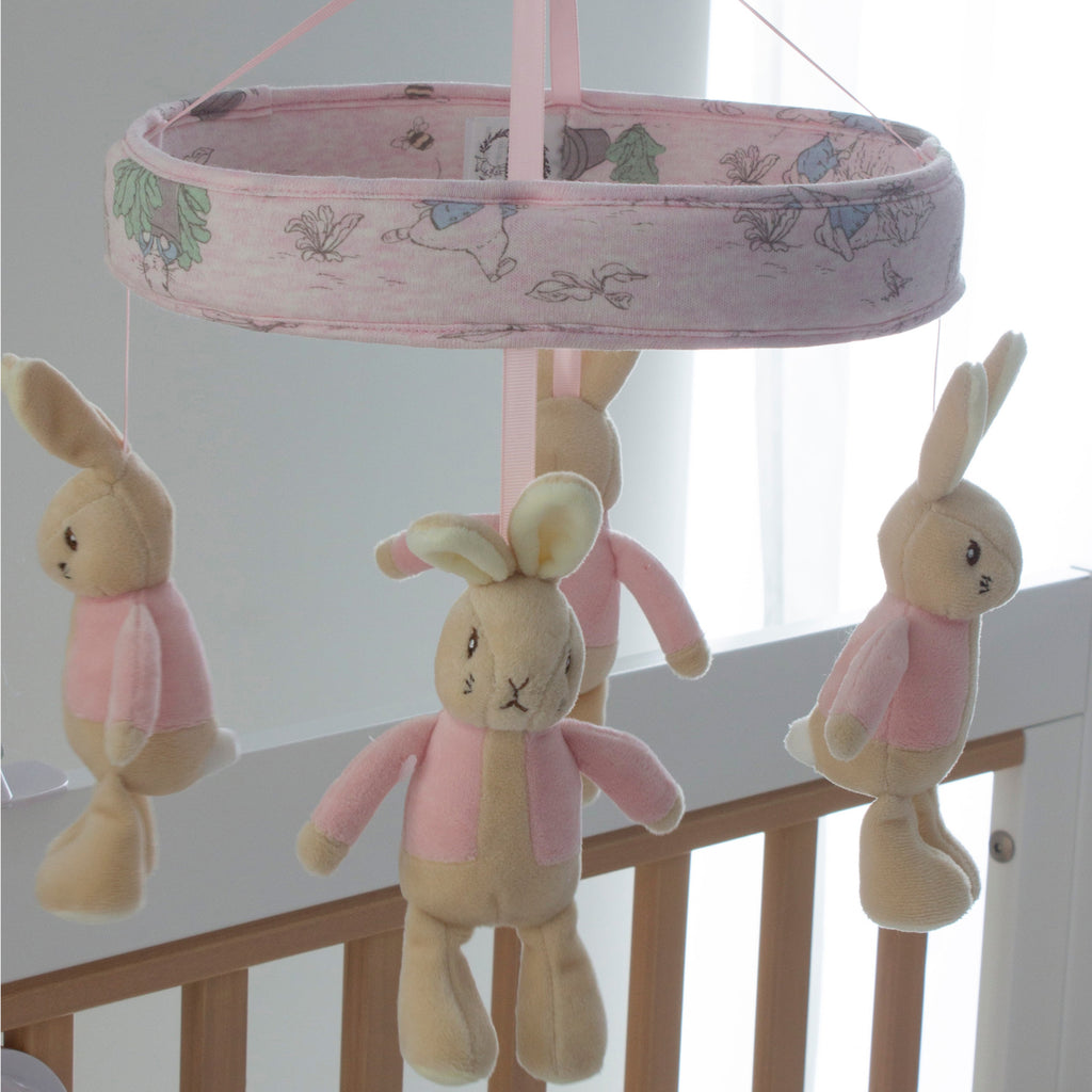 Peter Rabbit 'Hop Little Rabbit' Musical Mobile Bluetooth® - PInk - Bubba Blue Australia