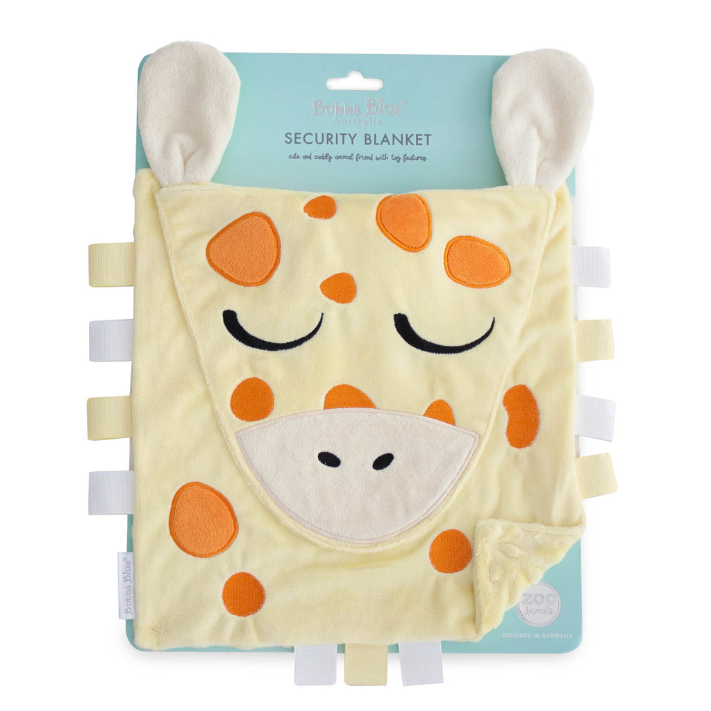 Zoo Animals Security Blanket - Giraffe - Bubba Blue Australia