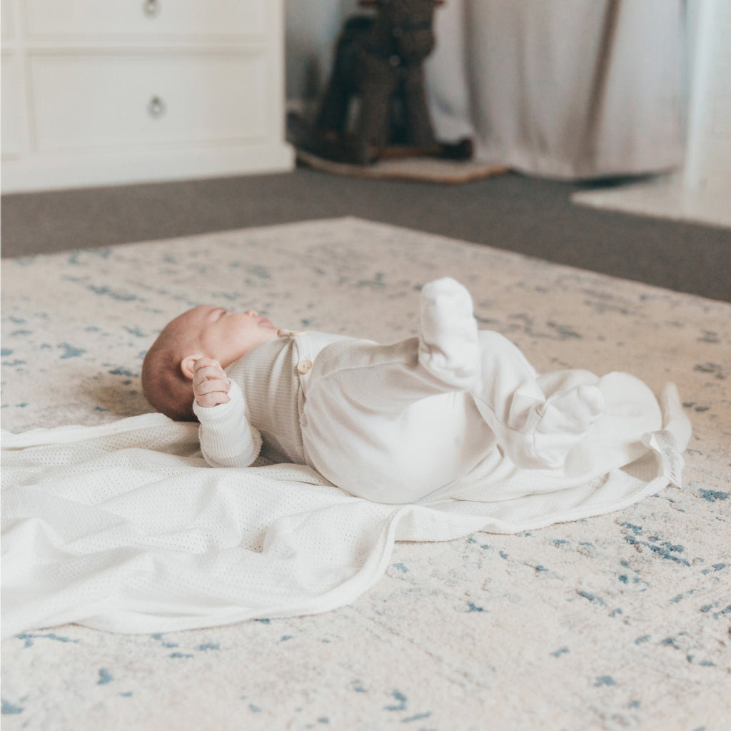 Air+ Swaddle Wrap White - Bubba Blue Australia