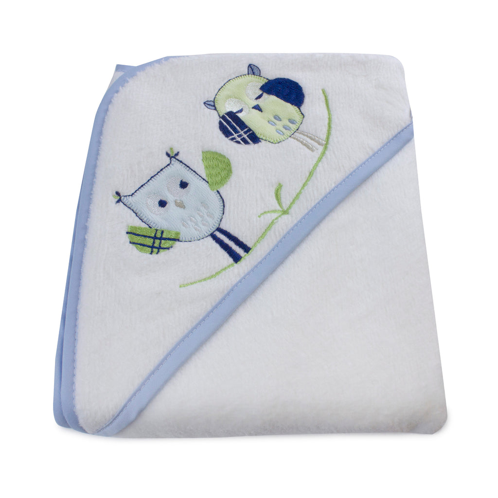 Boy Baby Owl Hooded Towel - Bubba Blue Australia