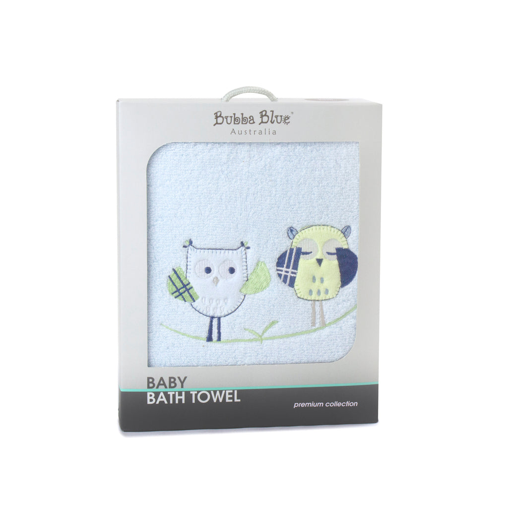 Boy Baby Owl Bath Towel
