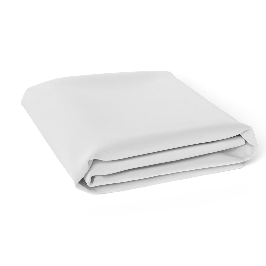 Bamboo White Cot Fitted Sheet - Bubba Blue Australia