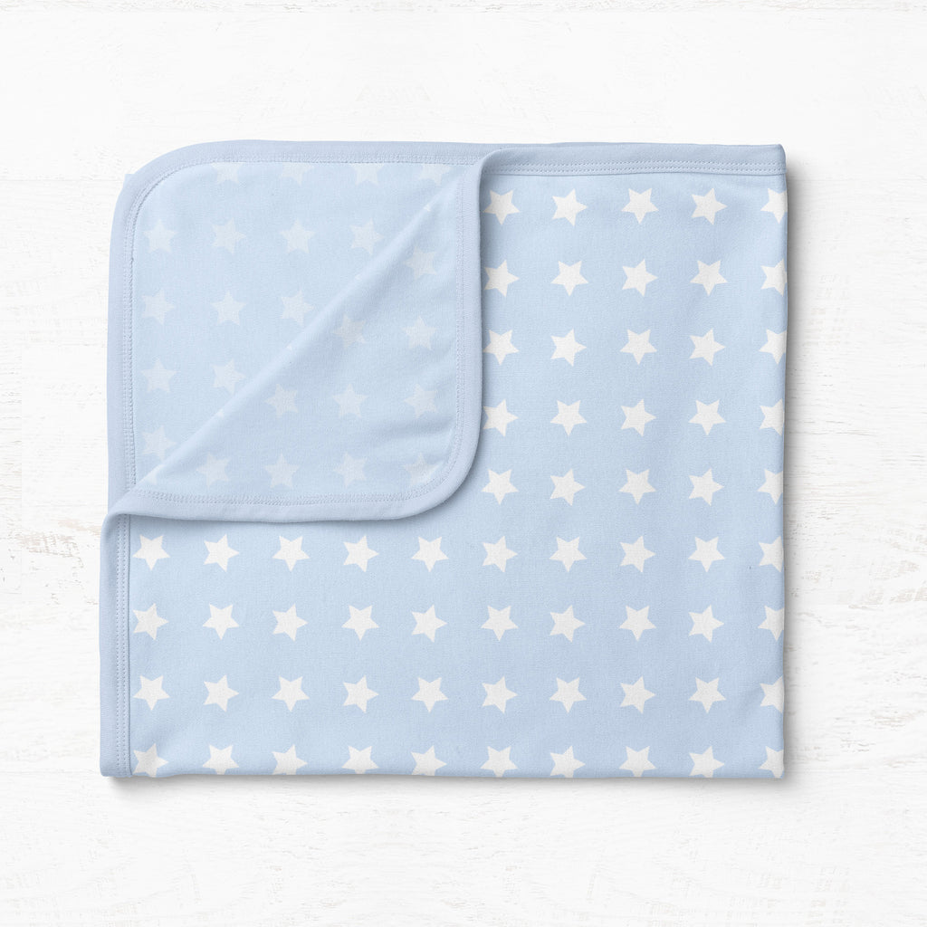 Everyday Essentials 2 pack Jersey Wraps - White, Blue Stars