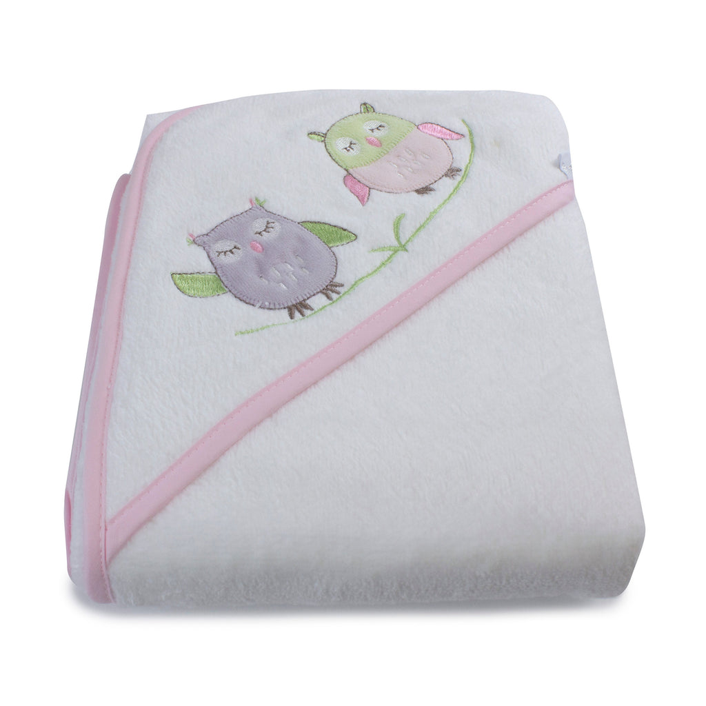 Girl Baby Owl Hooded Towel - Bubba Blue Australia