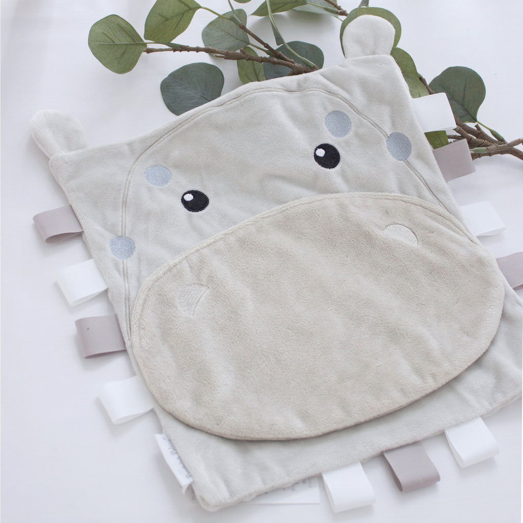Zoo Animals Security Blanket - Hippo - Bubba Blue Australia