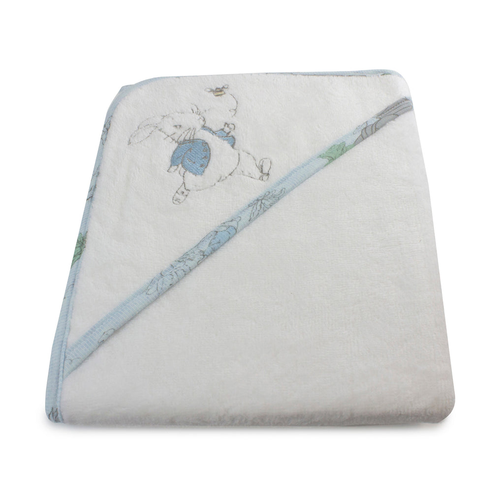 Peter Rabbit 'Hop Little Rabbit' Hooded Towel - Blue - Bubba Blue Australia