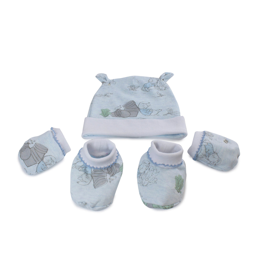 Peter Rabbit 'Hop Little Rabbit' 3 Piece Layette Set - Blue - Bubba Blue Australia