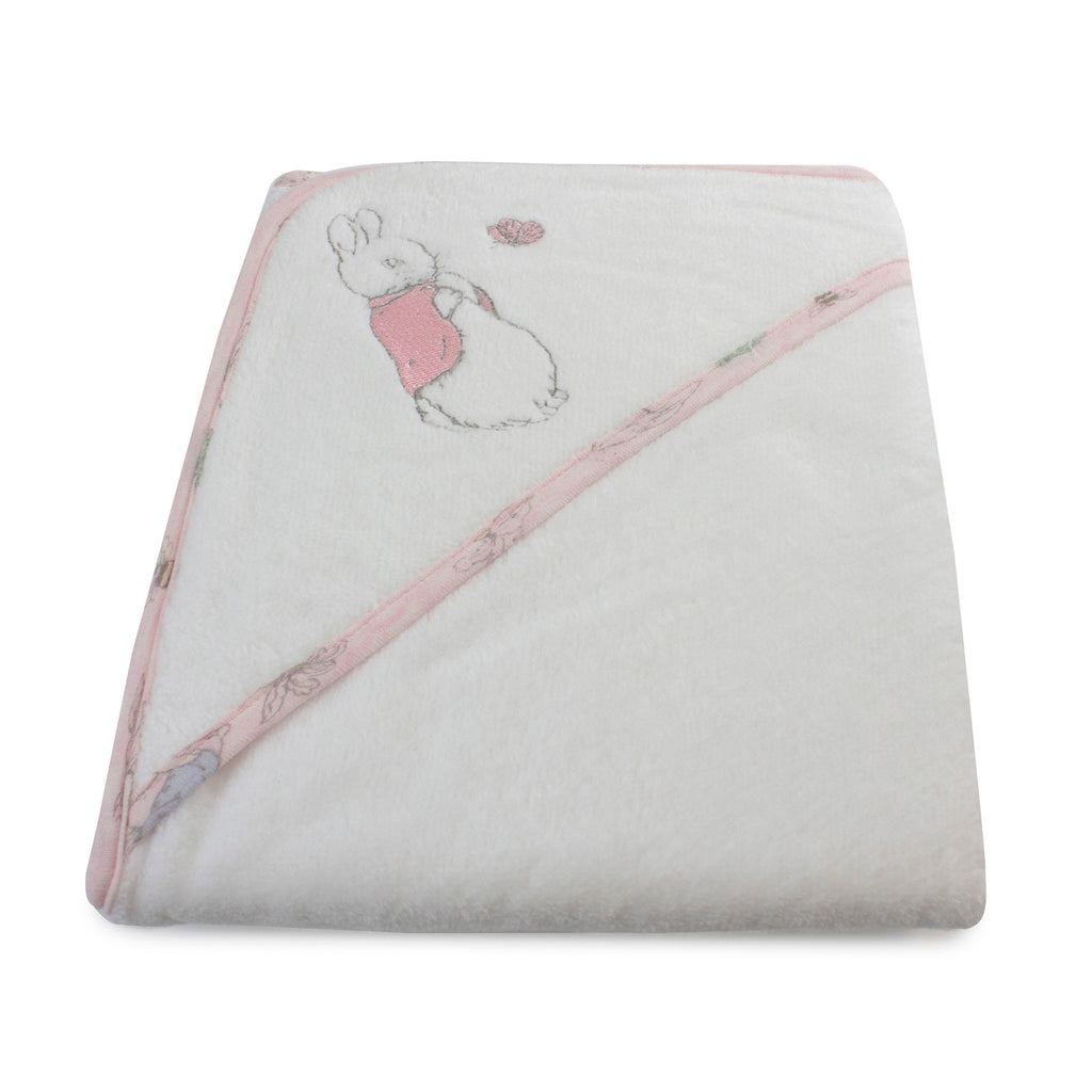 Peter Rabbit 'Hop Little Rabbit' Hooded Towel - Pink - Bubba Blue Australia