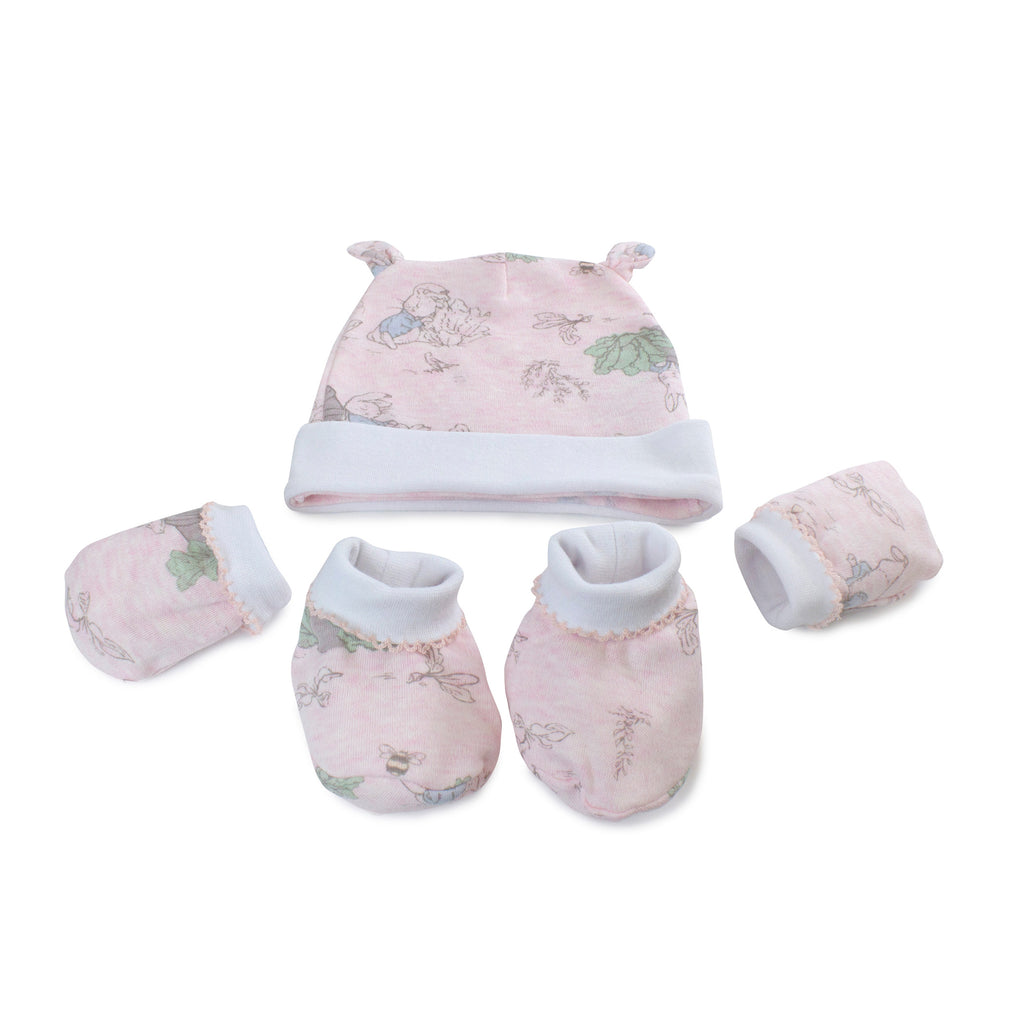 Peter Rabbit 'Hop Little Rabbit' 3 Piece Layette Set - Pink - Bubba Blue Australia