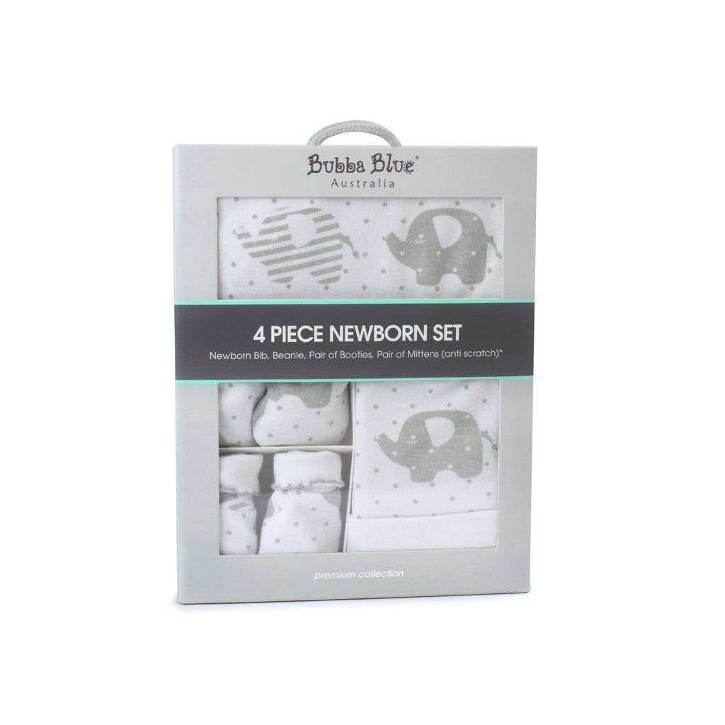 Petit Elephant 4 Piece Newborn Layette Set