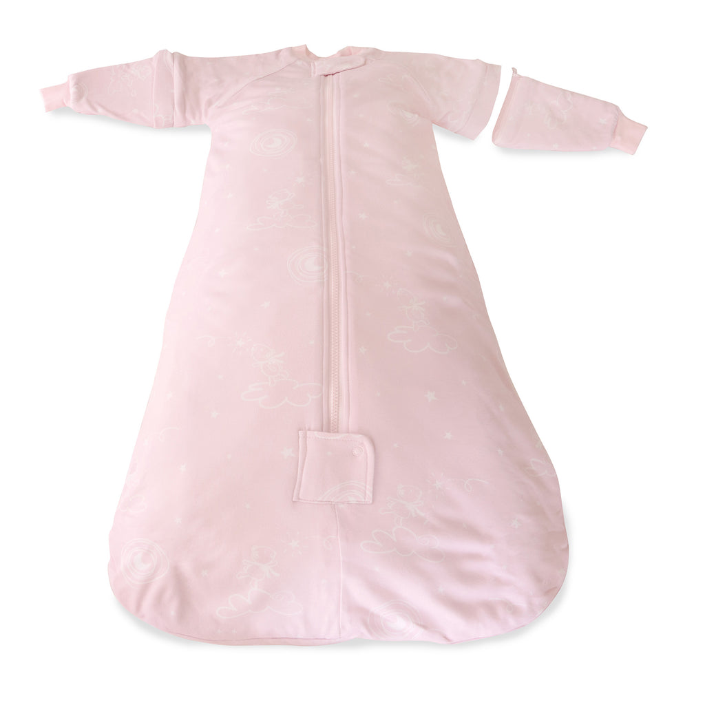 Pink Wish Upon a Star 2.5 Tog Convertible Sleeping Bag - Bubba Blue Australia