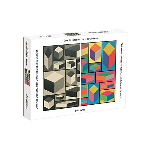 Sol LeWitt Distorted Cubes 500 Piece Double Sided Puzzle
