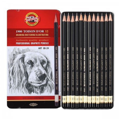 Koh-I-Noor 1900 Toison D'Or Sketching Set of 12 Pencils