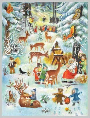 Traditional Advent Calendar 'Christmas In The Woods'