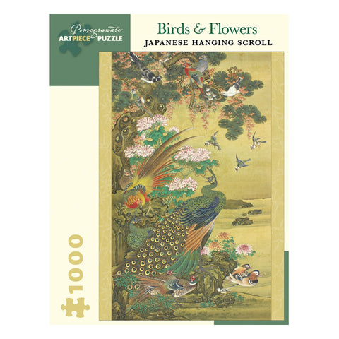 Birds & Flowers Japanese Hanging Scroll 1000 Piece Puzzle