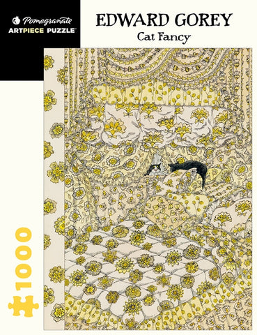 Edward Gorey, Cat Fancy Jigsaw, 1000 Pieces