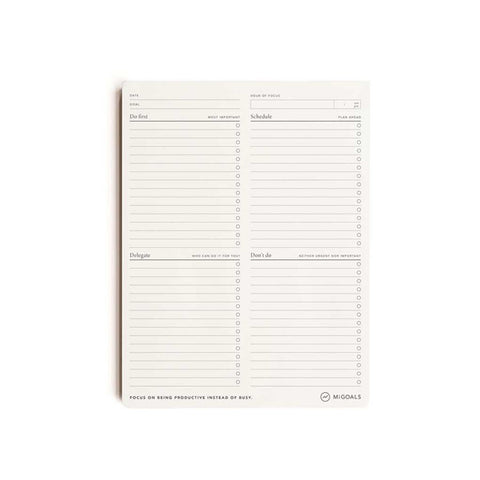 MiGoals Focus To-Do List Deskpad