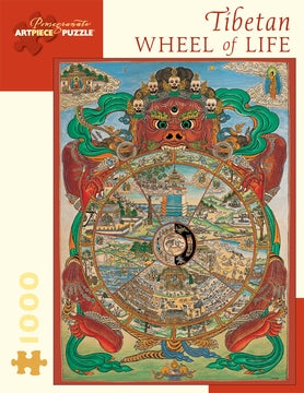 Tibetan Wheel of Life 1000 Piece Jigsaw Puzzle