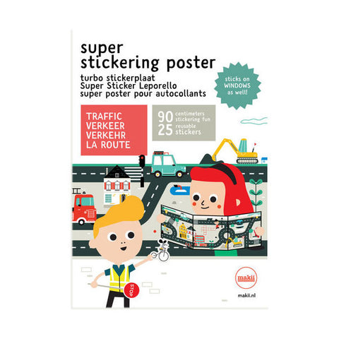 Super Stickering Poster