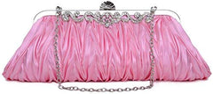 PULAMA Gorgeous Shoulder Bag Clutch Fit New York Formal Party Prom Evening Dress, Pink