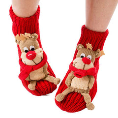 Christmas Socks 3d Animal Non-slip Household Floor Socks Winter Slipper for Women