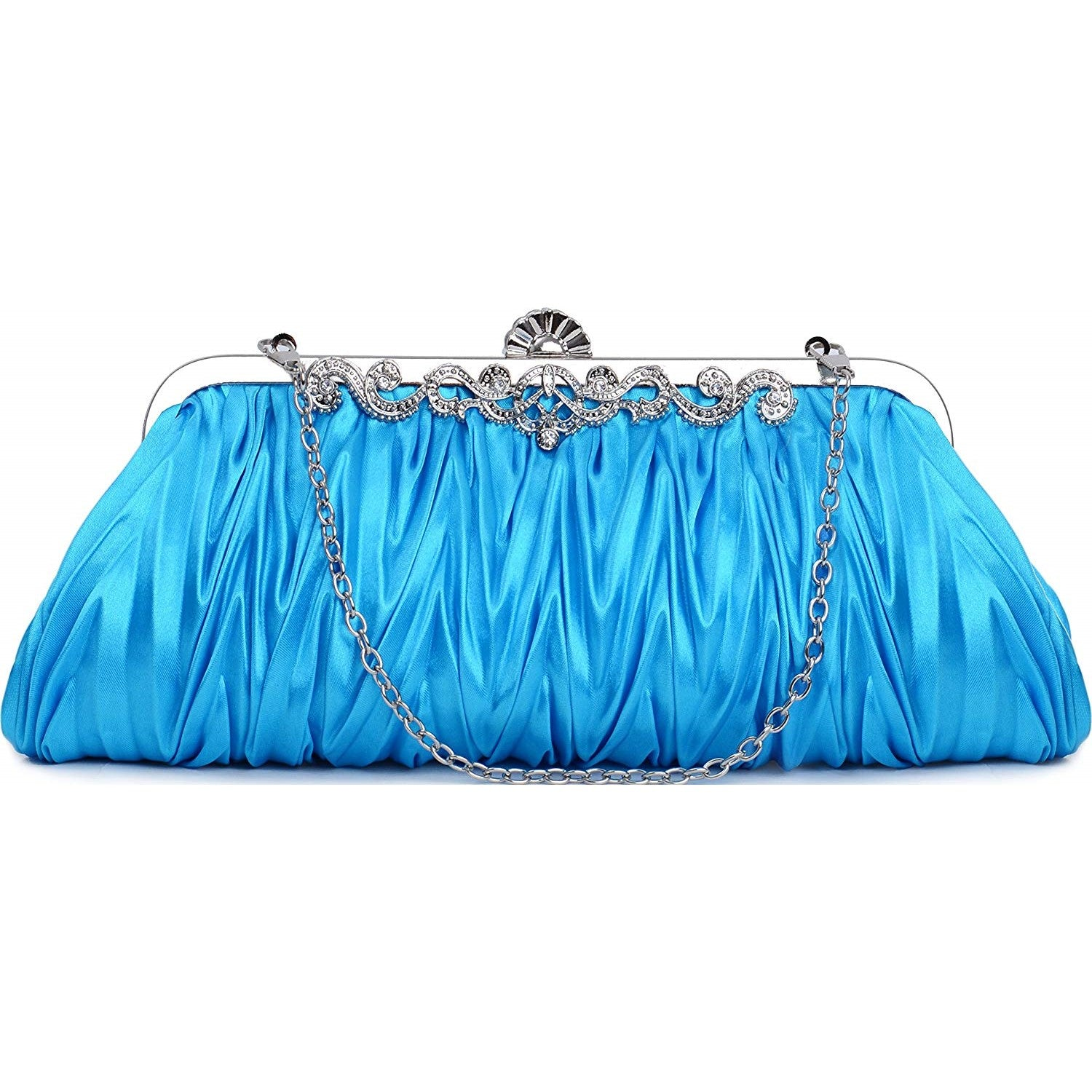 PULAMA Romantic Love Bridal Wallet For Wedding Evening Party Bag Purse, Sky Blue