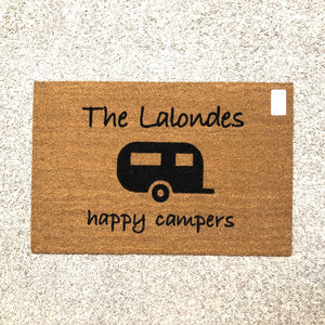 Happy Campers Doormat - Name Customizable