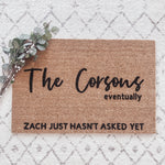Eventually Engaged Doormat