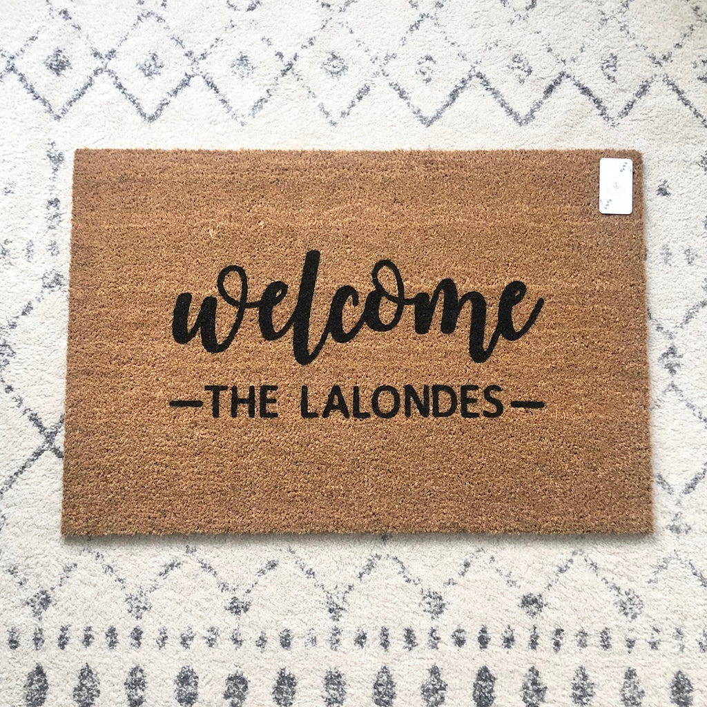 Welcome Name Doormat - Name Customizable