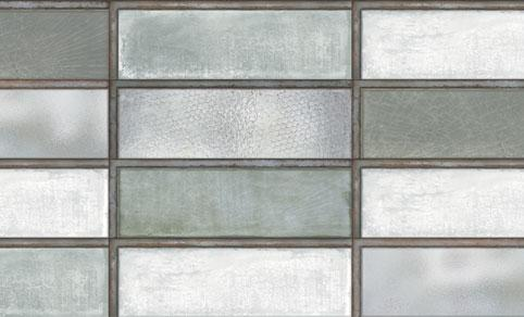 Diesel Living, Iris Ceramica Wall Tiles, Industrial Glass, Green, Multi-size