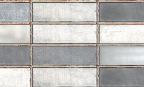 Diesel Living, Iris Ceramica Wall Tiles, Industrial Glass, Grey, Multi-size