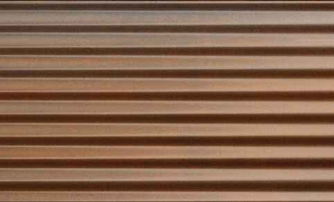 "Diesel Living, Iris Ceramica Wall Tiles, Ribbed Oxide, Rusty, 4""x8"""