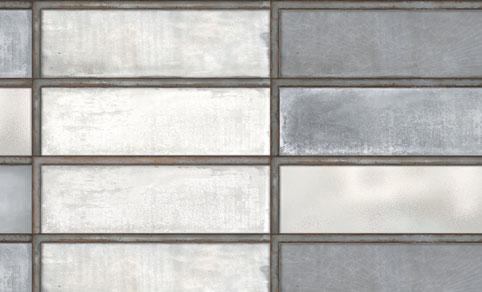 Diesel Living, Iris Ceramica Wall Tiles, Industrial Glass, Steel, Multi-size