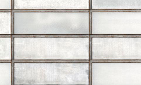 Diesel Living, Iris Ceramica Wall Tiles, Industrial Glass, White, Multi-size