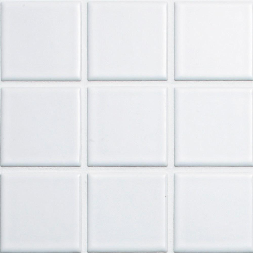 Cepac Porcelain Mosaic Tiles, Frost Proof/Acid Resistant, Quad, Multi-color, 2″ x 2″