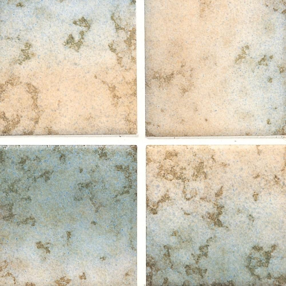 Cepac Porcelain Mosaic Tiles, Frost Proof/Acid Resistant, Regal, Multi-color, 3″ x 3″