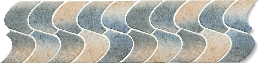 Cepac Porcelain Mosaic Tiles, Frost Proof/Acid Resistant, Seacliff, Multi-color