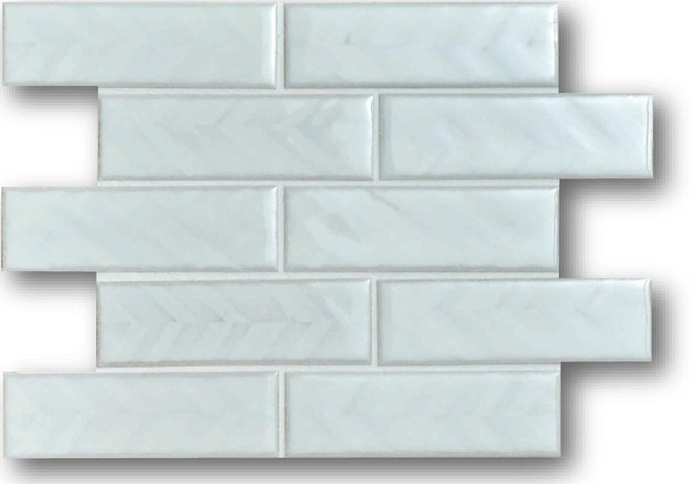 Cepac Porcelain Mosaic Tiles, Frost Proof/Acid Resistant, Rhine, Multi-color, 1-3/4″ x 5-3/4″