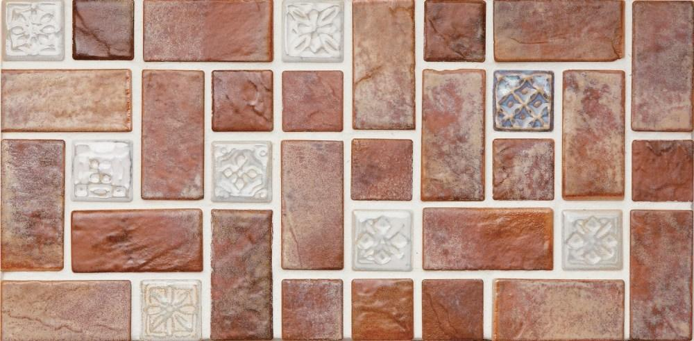 Cepac Porcelain Mosaic Tiles, Frost Proof/Acid Resistant, Vista, Multi-color, 6″ x 6″